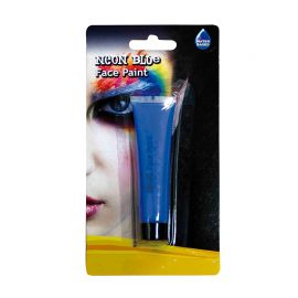 Maquillage Visage au Néon Bleu Foncé