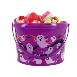 Seau Porte Bonbons Fantôme Violet