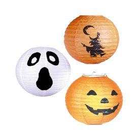 Lanterne d'Halloween Sorcière, Fantôme ou Citrouille