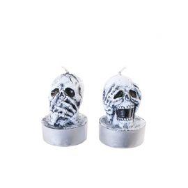 Bougies Crânes Halloween