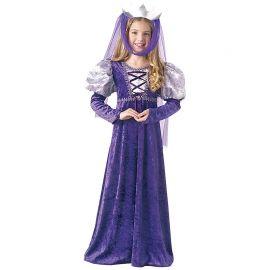 Déguisement de Reine Médiéval Couleur Violette pour Fille