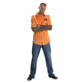 Chemise de Prisonnier avec Tatouage pour Adulte