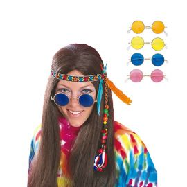Lunettes Hippie avec Verres Colorés