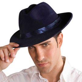 Chapeau de Gangster Bleu pour Adulte