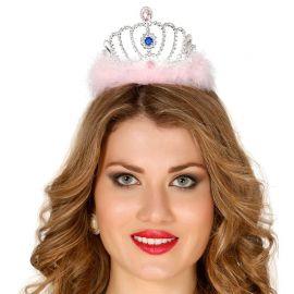 Diadème Argent avec Plumes de Princesse