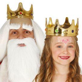 Couronne Reine en Or avec Pierres pour Enfants