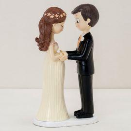 Figurine de Mariés avec Mariée Enceinte