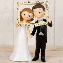 Figurine de Mariés Cadre de Photobooth