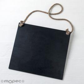 Ardoise Noire avec Cordon 30 x 27 x 0,5 cm
