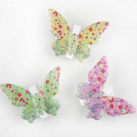 3 Pinces Papillons Multicolore en Métal