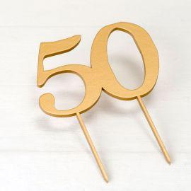 Topper pour Gateau 50e Anniversaire