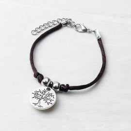 4 Bracelets avec Médaille Arbre / Life is a Gift