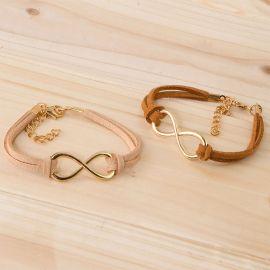 4 Bracelets Chair Symbole Infini Couleurs Variées