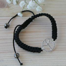 4 Bracelets Symbole de Paix Réglables
