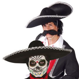 Chapeau Mexicain noir 55 cm