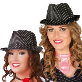 Chapeau de Gangster avec Rayure