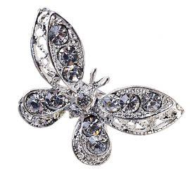 12 Broches en forme de Papillons en Strass
