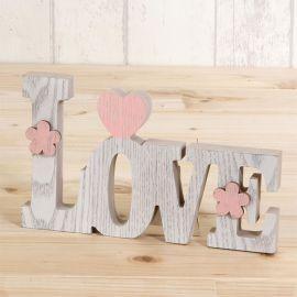 Décoration en Bois Love 20 cm