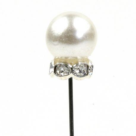 48 Aiguilles Perle avec Strass