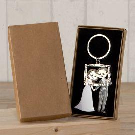 Porte-Clés Mariés Photocall avec Boîte