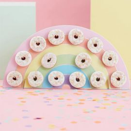 Mur de Donuts Arc-en-Ciel