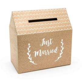 Urne Just Married Kraft 30 cm x 30,5 cm x 16,5 cm