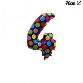 Ballon 4 Mylar à Pois 40 cm