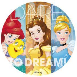 Disque Comestible de Princesse Disney 20 cm
