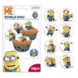 Mini Disque Cupcake Minions 3,4 cm