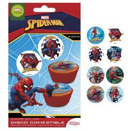 16 Mini Hosties Spiderman 3,4 cm