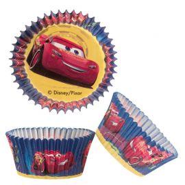50 Caissettes en Papier pour Cupcake Cars 5 cm