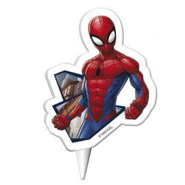 Bougie d'Anniversaire Spiderman 7,5 cm 2D