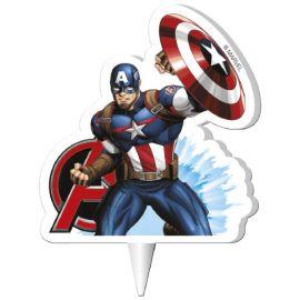 Bougie Captain America 7,5 cm 2D