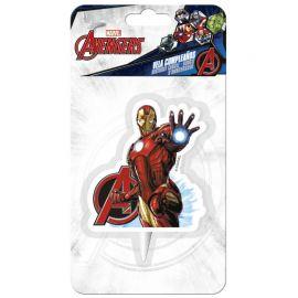 Bougie Iron Man 7,5 cm 2D
