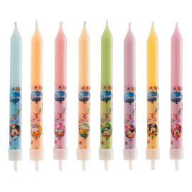 8 Bougies en forme de Mickey Mouse et ses Amis 9 cm