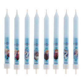 8 Bougies en forme de Bâton Reine des Neiges 9 cm