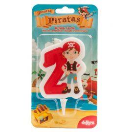 Bougie de Pirate Nº2 de 7 cm en 2D