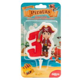 Bougie de Pirate Nº3 de 7 cm en 2D
