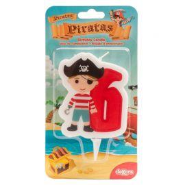 Bougie de Pirate Nº6 de 7 cm en 2D