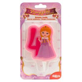 Bougie de Princesse Nº4 de 7 cm 2D