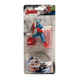 Kit de Décoration de Gâteau Captain America