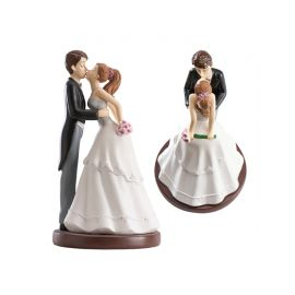 Figurine de Mariés qui s'Embrassent 20 cm