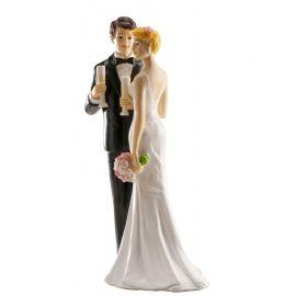 Figurine de Mariage avec Coupe de Champagne 16 cm