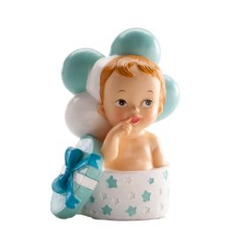 Figurine Baptême Garçon avec Cadeau