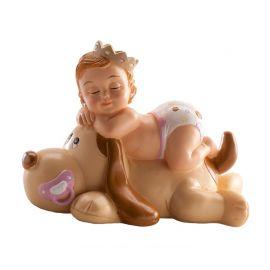 Figurine Baptême Fille qui Dort