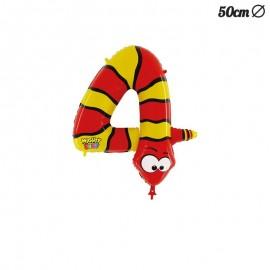 Ballon Mylar Serpent Numero 4 50 cm
