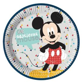 8 Assiettes Mickey Awesome 23 cm