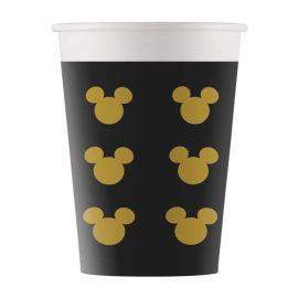 8 Gobelets Mickey Gold 160 mL
