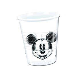 25 Gobelets Mickey Visage en Plastique 200 mL