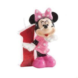 Bougie Nº 1 Minnie Mouse 6,5 cm